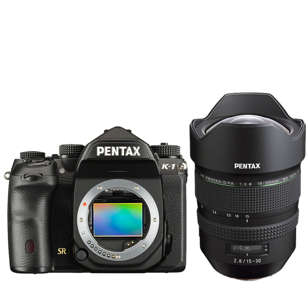 Pentax K-1 36.4Mp Full-Frame Camera + Pentax HD FA 15-30mm f 2.8 ED SDM WR Lens by Pentax