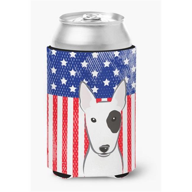 American Flag & Bull Terrier Can or Bottle Hugger - image 1 of 1