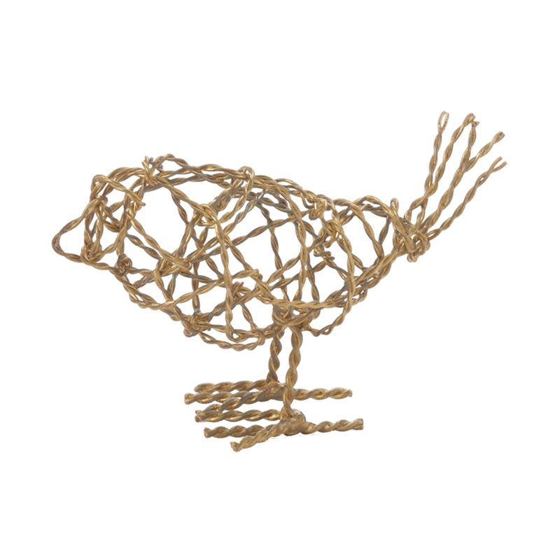 "Dimond Home Scribble Bird 3"" Figurine in Gold"