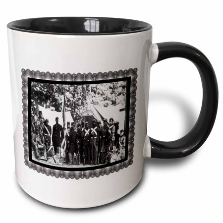 3dRose Company A, 8th New York State Militia, Arlington, VA June 1861 - Two Tone Black Mug,