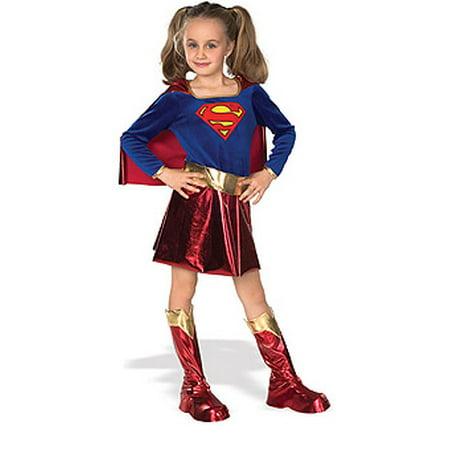 Girls Superhero Costumes - Supergirl   med 5-7 (90's Fashion Costume Ideas)