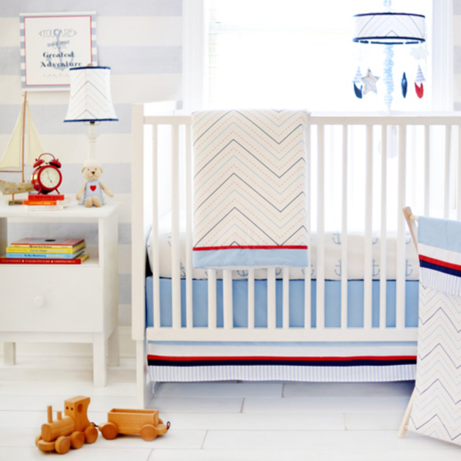 "3-piece Crib Bedding Set, ""First Mate"" by My Baby Sam"