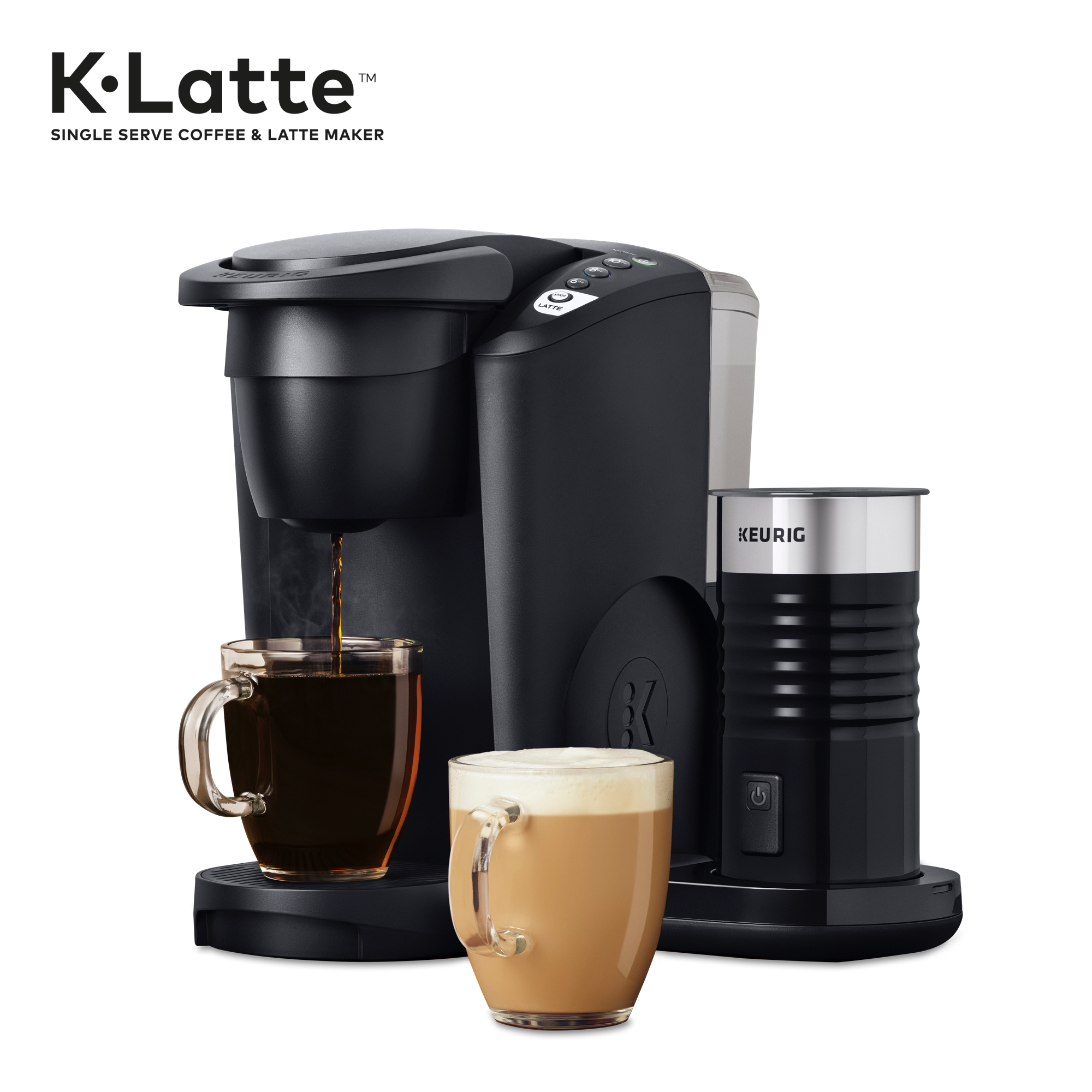Keurig K Latte Coffee Maker With Milk Frother Compatible With All