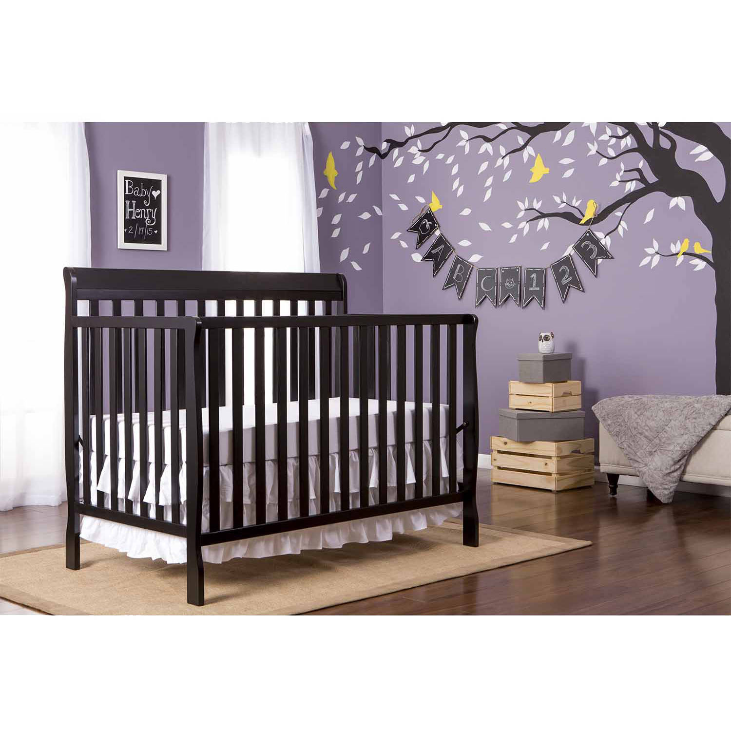 Dream On Me Alissa Convertible 4 in 1 Crib, Choose Your Finish
