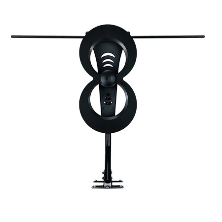 Antennas Direct ClearStream 2MAX 60 Mile Extreme Range Multi-Directional HDTV Antenna, UHF/VHF Channels Indoor/Outdoor 4K Ready, Black