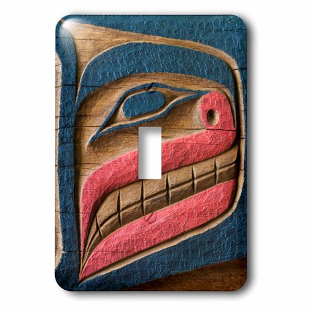 Carved Plug (3dRose USA, Washington, Poulsbo. Native carving by Kiana Lodge tribe., 2 Plug Outlet Cover)