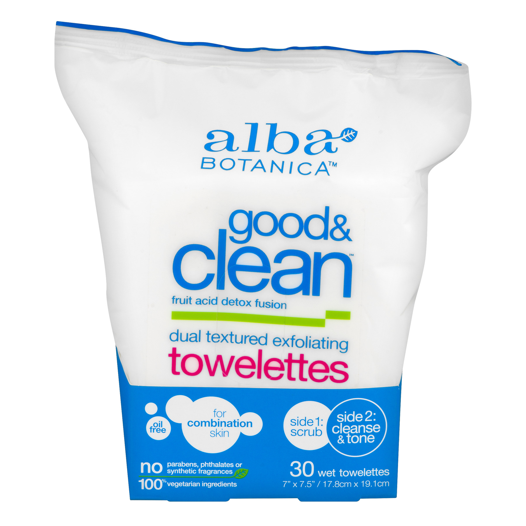 Alba Botanica Good & Clean Towelettes - 30 CT30.0 CT