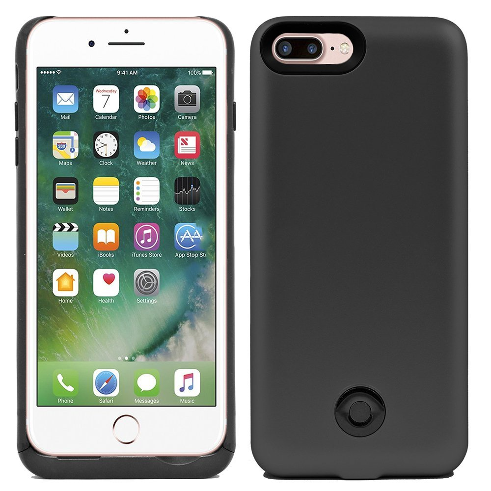 iPhone 7 Plus Battery Case, 9000mAh Protable Rechargeable Extended Charging Backup Battery Case for iPhone 7 Plus 5.5 inch (black)