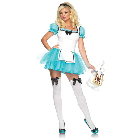 Leg Avenue Enchanted Alice Adult Halloween Costume (Alice Halloween Costumes From Alice In Wonderland)