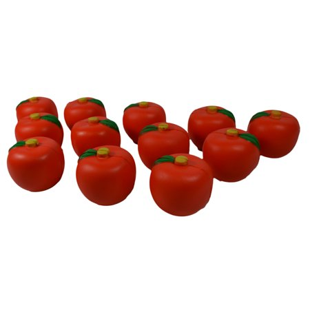 Lot of 12 Foam Relaxable Stress Ball Relief Apple (Star Stress Ball)