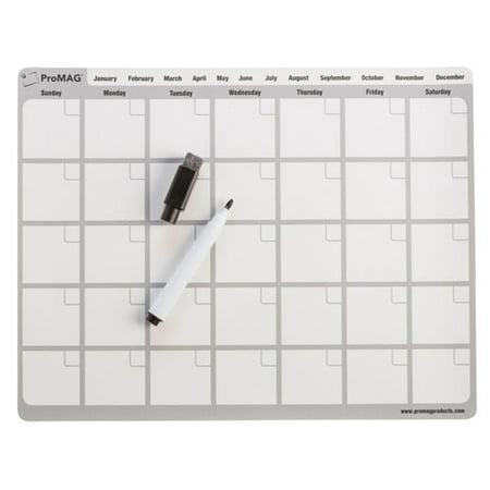 Dry Erase Board - Magnetic - Calendar - with Marker - 8.5 x 11