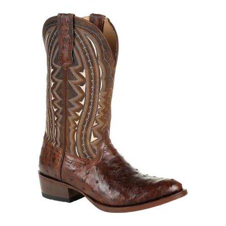 Men's Durango Boot DDB0277 Exotic Full-Quill Ostrich Western Boot