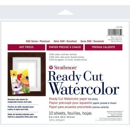Strathmore Watercolor Paper 500 Series Hot-Press, 8