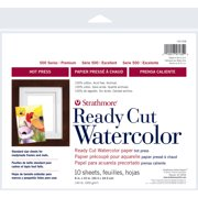 "Strathmore Watercolor Paper 500 Series Hot-Press, 8"" x 10"", 10 Sheets"