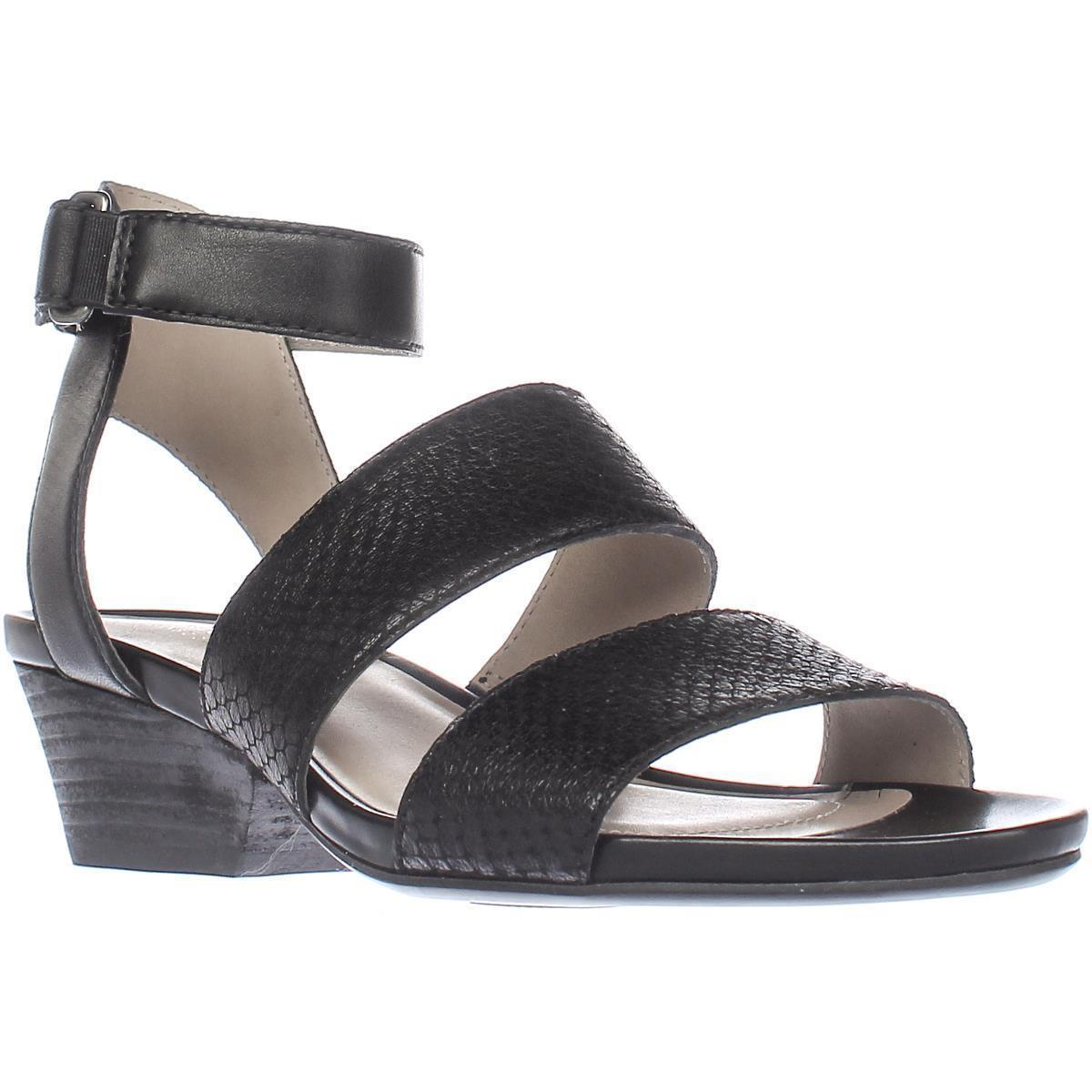 Womens Naturalizer Gracelyn Comfrot Heel Sandals, Black Leather by Naturalizer