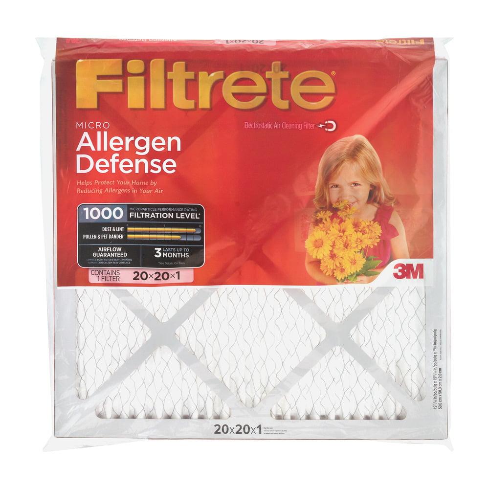 Filtrete Micro Allergen Defense 1000 Air Filter 20x20x1, 1.0 PIECE(S)