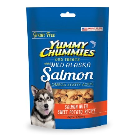 Yummy Chummies 00400-2 Grain-Free Salmon and Potato Recipe Dog Treat, 4 - Yummy Halloween Treats