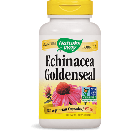 Nature's Way Echinacea Goldenseal Non-GMO Project Verified, Tru-ID? Certified, 180 Ct