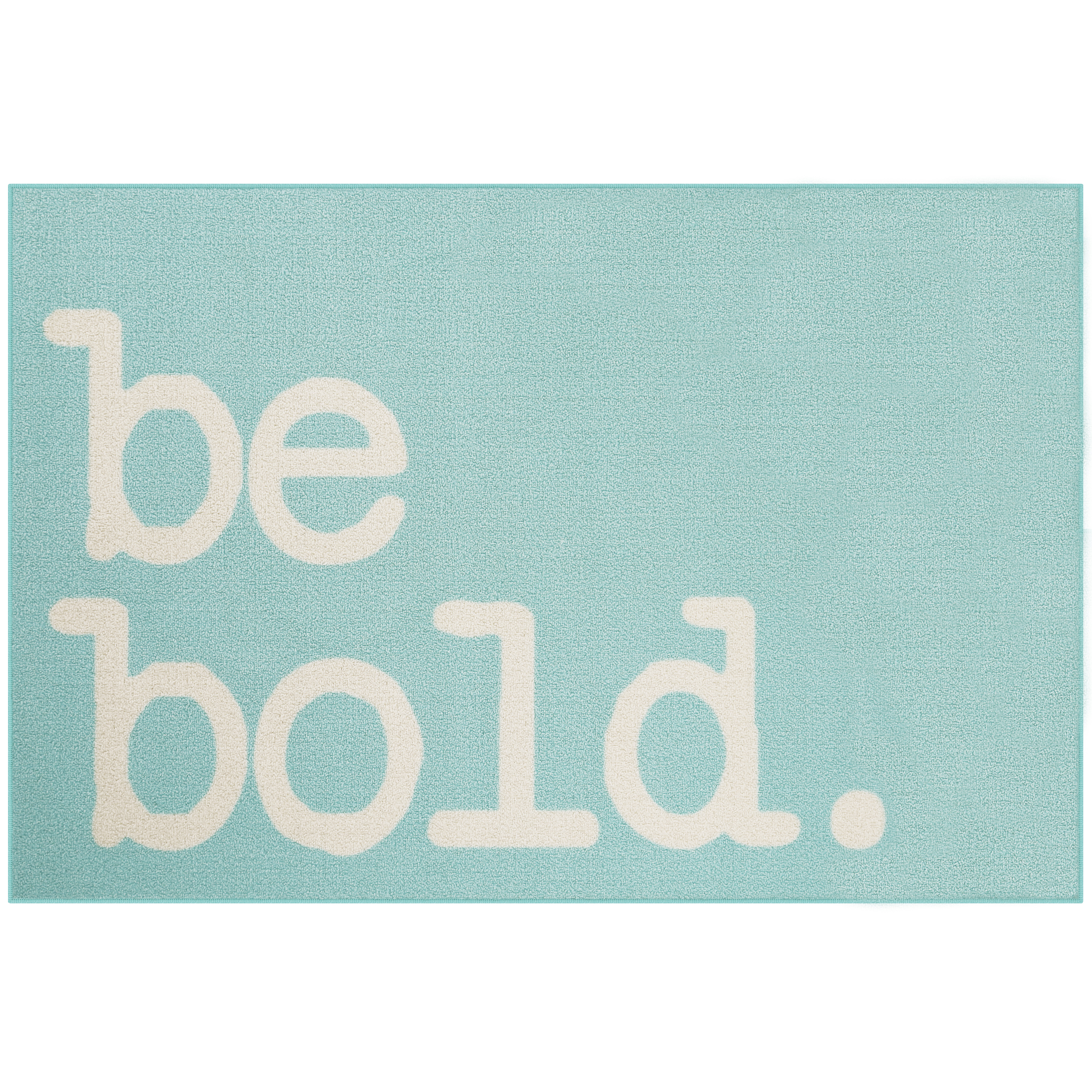 "Mainstays Be Bold Loop Pile Script Print 3'x4"" x 5' Room Rug, Multiple Colors"