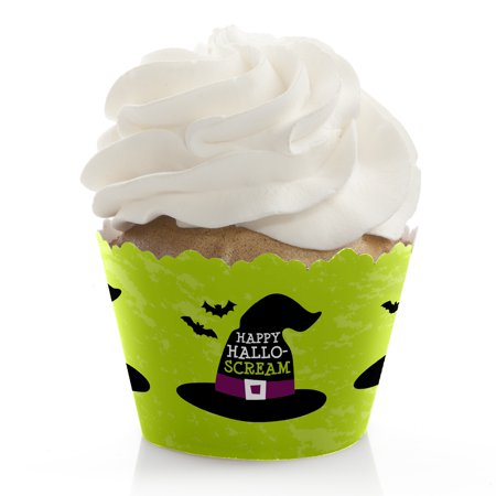 Happy Halloween - Witch Party Decorations - Party Cupcake Wrappers - Set of 12