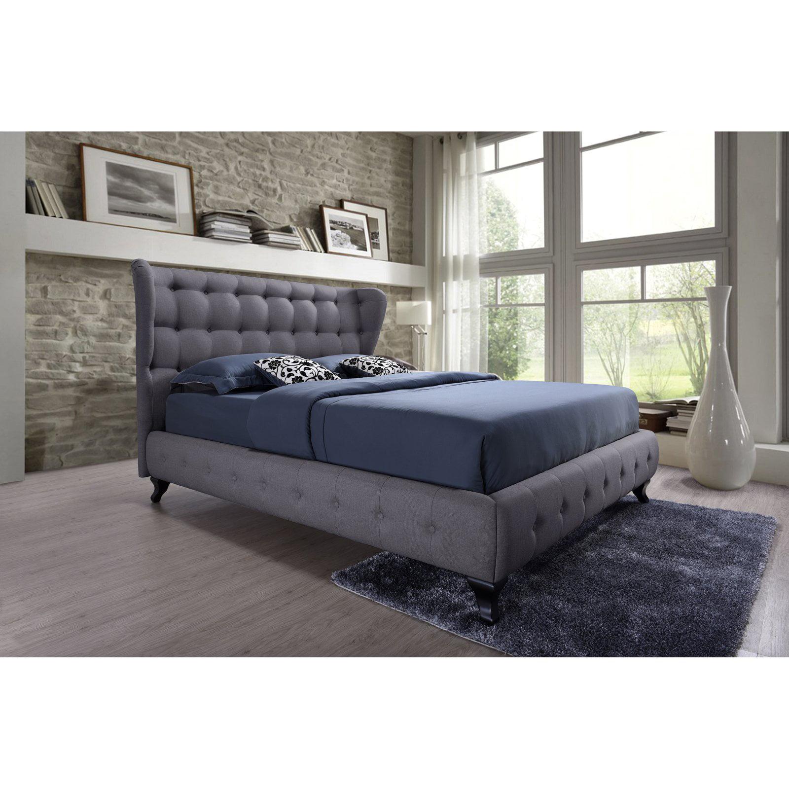 Baxton Studio Bellissimo Uphostered Platform Bed