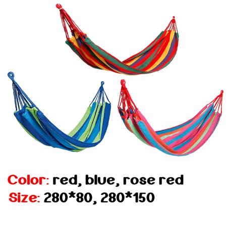 265-440lb Capacity 2-Person Hammock Bed For Adults Portable Rope Hanging Hammock Swing Bed w/ Carrying Bag Garden Sleeping Hammock Bed For Camping Hiking Outdoor Travel