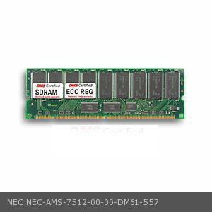 NEC AMS-7512-00-00 equivalent 128MB DMS Certified Memory PC100 16X72-8 ECC/Reg. 168 Pin  SDRAM DIMM - (128mb Ddr Sdram Video Card)