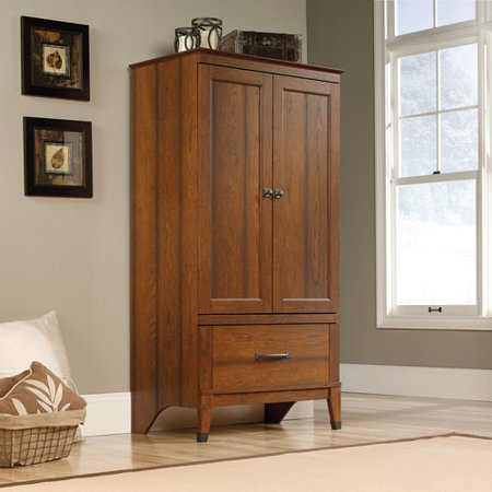 Sauder Carson Forge Armoire, Washington Cherry Finish Bedroom Mdf Armoire
