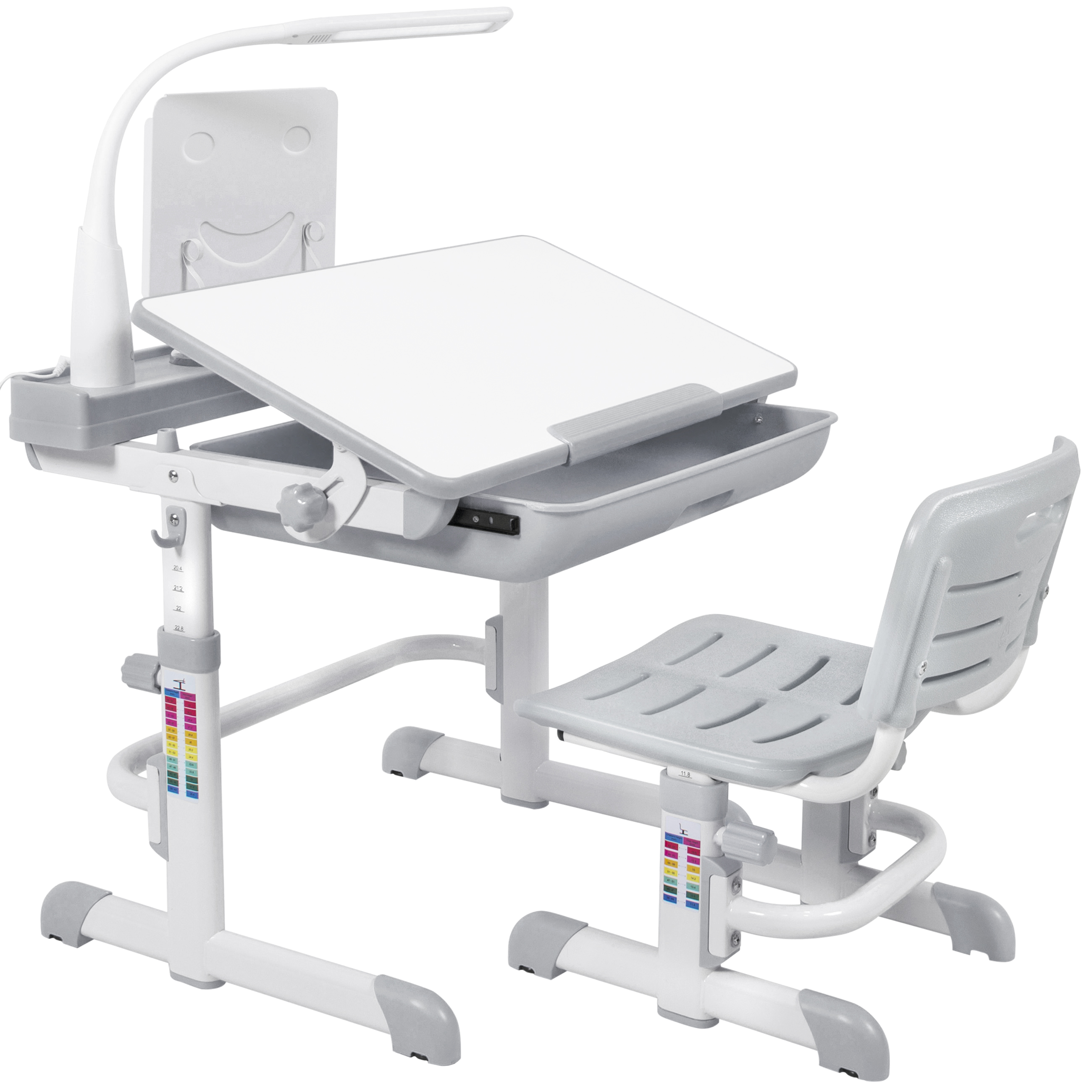 Best Choice S Height Adjule Children Desk And Chair Set For Kids Work Station Study Area Gray Com