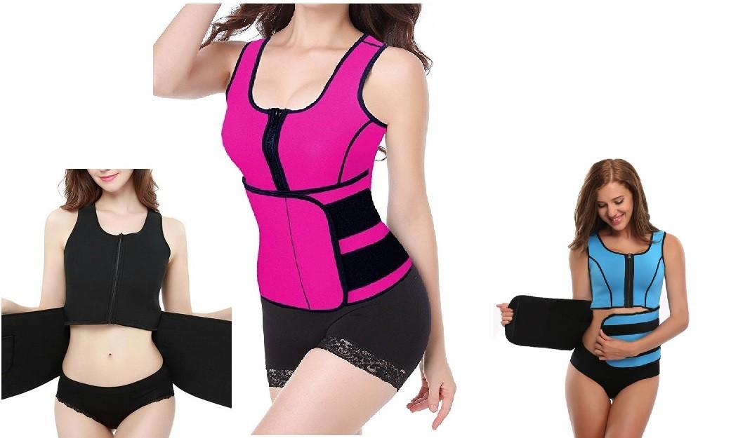 Women Neoprene Slimming Thermo Belt Body Shaper Vest Sweat Waist Cincher Fitness