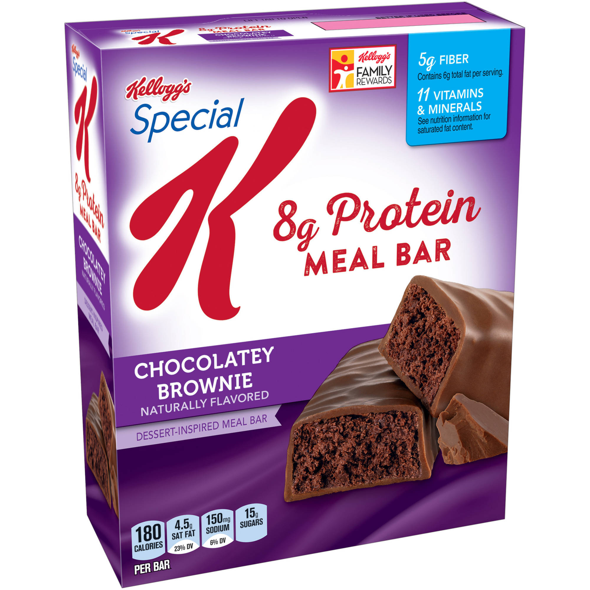 Kellogg's Special K Protein Chocolatey Brownie Dessert-Inspired Meal Bar, 1.59 oz, 5 count