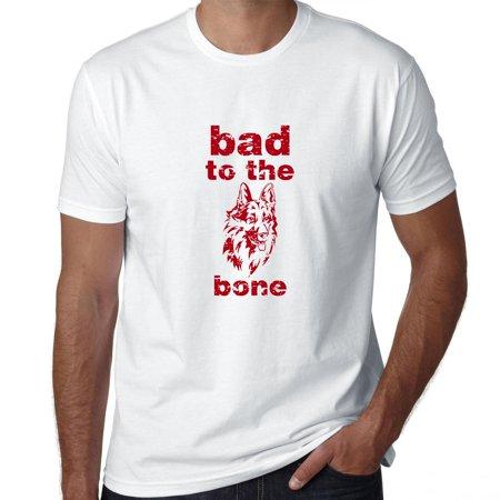 e34b46c2 Hollywood Thread - Bad To The Bone - Cool Dog Men's T-Shirt - Walmart.com