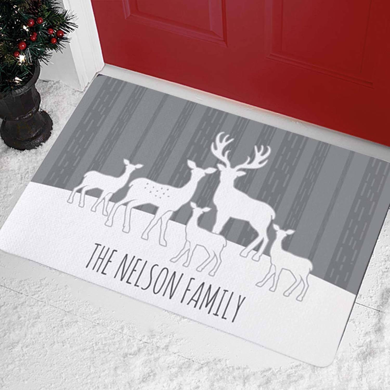 Personalized Deer Silhouette Doormat