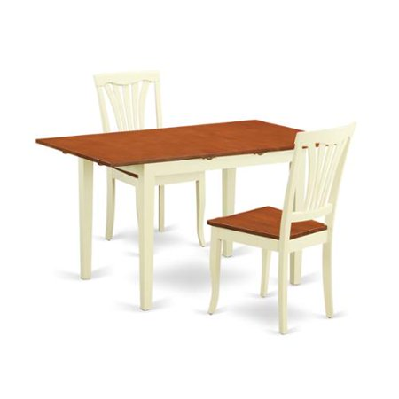 dining room set with dining table and 2 dining chairs