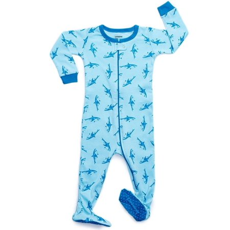 8c8f8bad11 Leveret - Leveret Sharks Footed Pajama Sleeper 100% Cotton 2 Years ...
