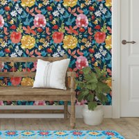 "The Pioneer Woman Peel and Stick Wallpaper, Fiona Floral, 18"" X 18.86'"
