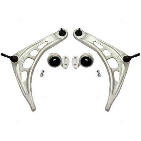 - Set of Front Lower Control Arms with Ball Joint Bushings and Retainers Kit Replacement for BMW 31126777852