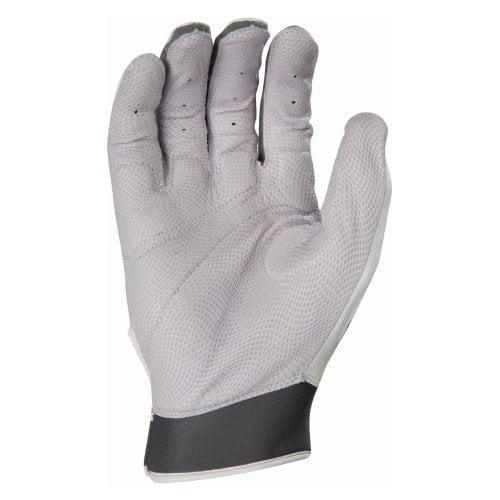 Franklin Sports MLB Adult Shok-Sorb Pro Batting Glove Pair, Pearl/Gun