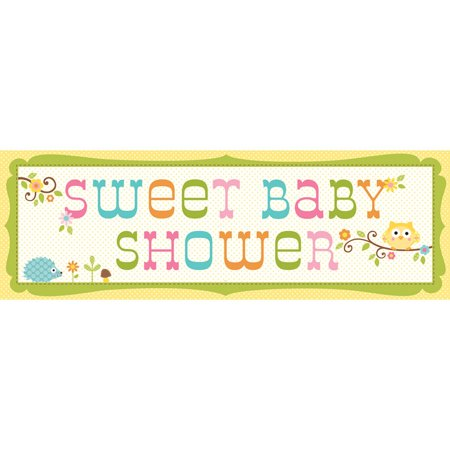 """Pack of 6 Happi Tree """"Sweet Baby Shower"""" Giant Party Banners 60"""