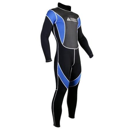 Leader Accessories 2.5mm Black/Blue Men's Fullsuit Jumpsuit