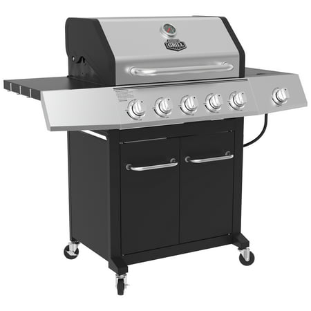 Expert Grill 5-Burner Propane Gas Grill with Side Burner