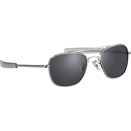 HUMVEE HMV-52B-SILVR Polarized Bayonette Style Military Sunglasses with Gray Lenses and Chrome Silver Frame, 52mm, Protect your eyes from the sun's.., By (Chrome Lens Sunglasses)