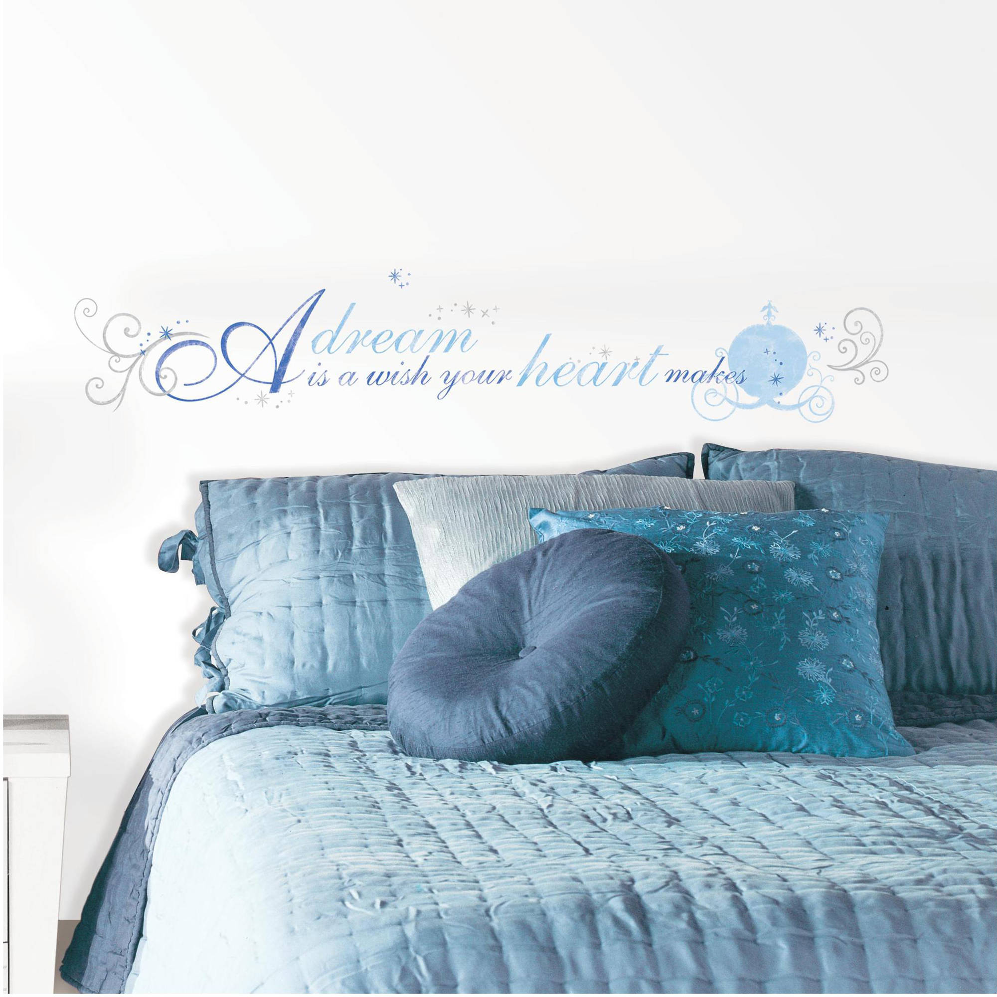 "Cinderella ""A Dream is a Wish"" Peel and Stick Wall Decals"