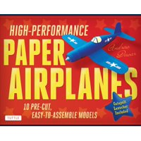 High-Performance Paper Airplanes Kit: 10 Pre-Cut, Easy-To-Assemble Models [Boxed Kit with Die-Cut Cards, Catapult & Full-Color Book]