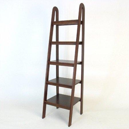 5 Tier Ladder - Scranton & Co Basswood 5 Tier Ladder Bookcase in Brown