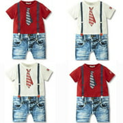 NEW Baby Boys Kids Newborn Overalls Romper Shorts Jumpsuit Outfit Clothing Set 3-24 Months
