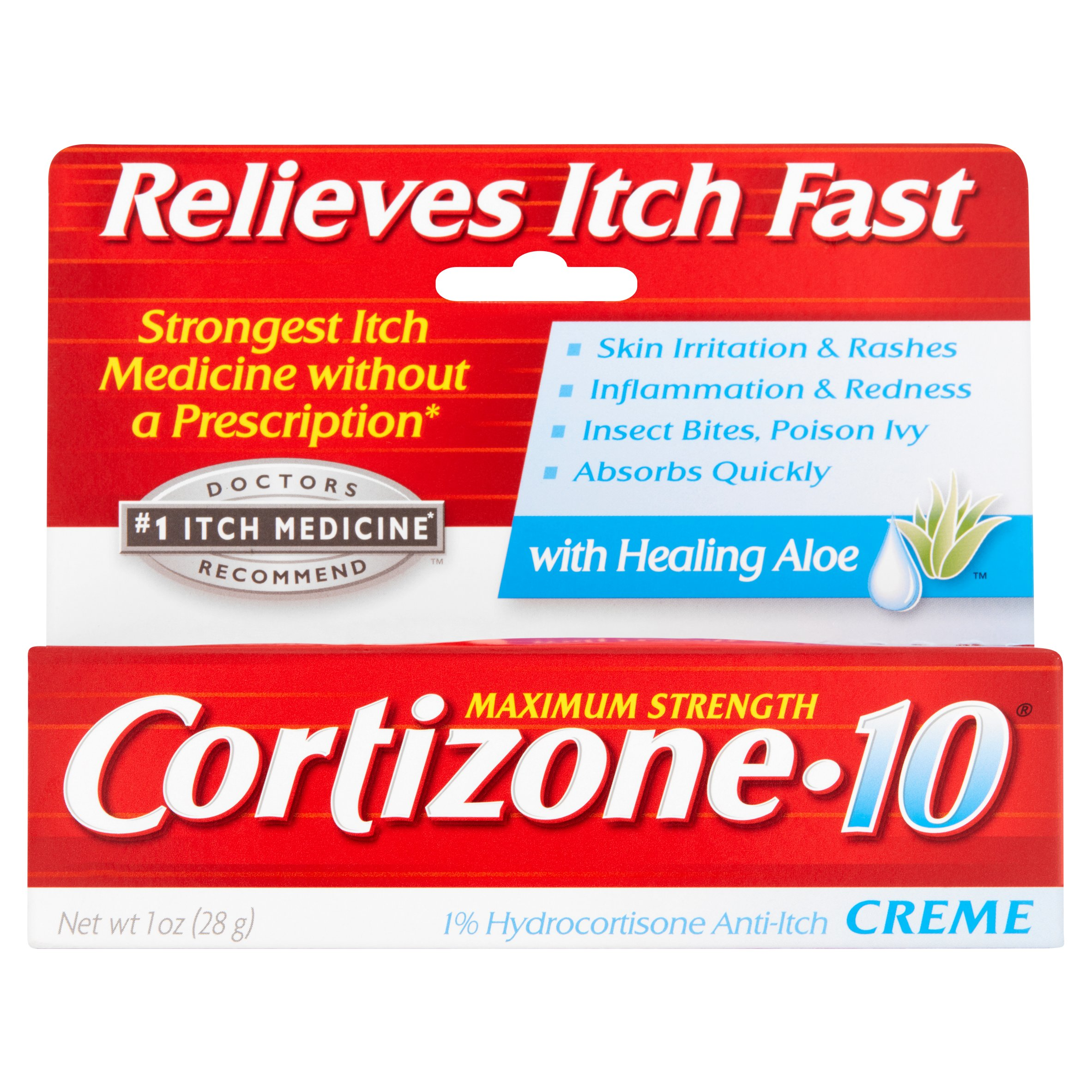 Cortizone 10 Maximum Strength 1% Hydrocortisone Anti-Itch Crème, 1oz