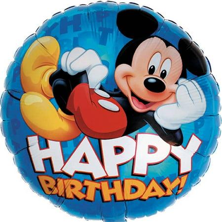 Mickey Mouse Balloon (Mickey Mouse Happy Birthday Jumbo Foil / Mylar Balloon)