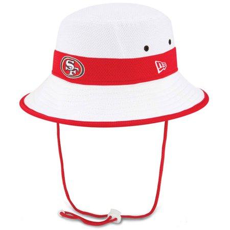 wholesale dealer 8ec0d 36106 San Francisco 49ers New Era NFL 2015 Training Camp Sideline Bucket Hat -  White - Walmart.com
