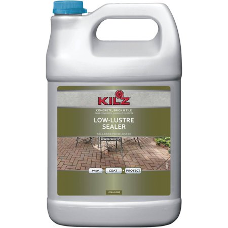 Surface Tile Sealer - KILZ Interior/Exterior Concrete, Brick, and Tile Liquid Masonry Sealer, Clear, 1 gal